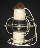 VINTAGE FRENCH SHABBY CHIC METAL LAMP, CONVERTED OIL LAMP Ref: ADC28